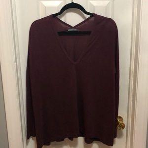 Zara W&B Dolman Long Sleeve Top